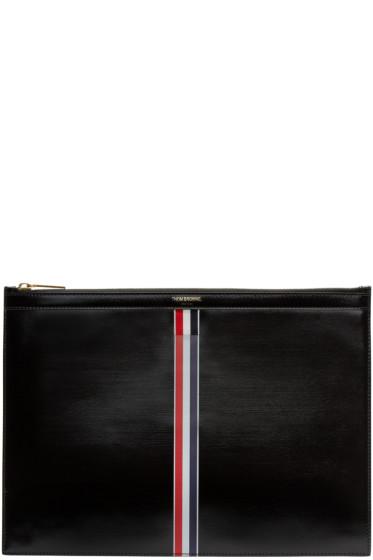 Thom Browne - Black & Tricolor Medium Document Holder