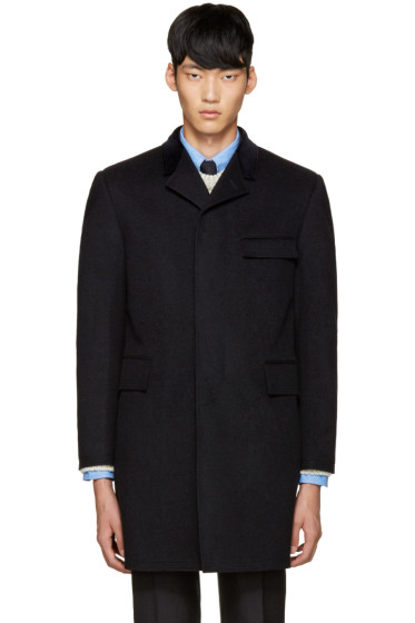 Thom Browne - Grey Cashmere Chesterfield Coat