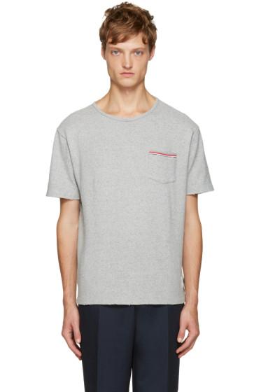 Thom Browne - Grey Distressed T-Shirt