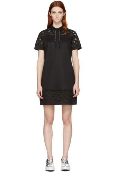 Kenzo - Black Flying Logo Shirt Dress