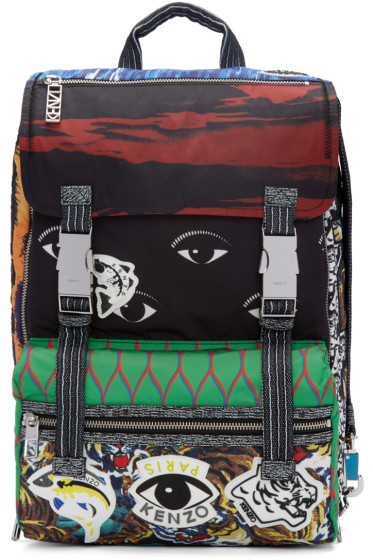 Kenzo - Multicolor Patterned Backpack