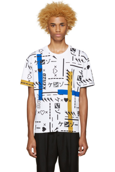Kenzo - White Printed T-Shirt