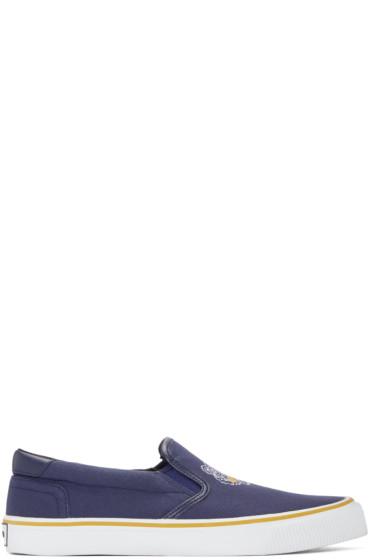 Kenzo - Navy Tiger Slip-On Sneakers