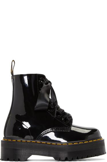 Dr. Martens - Black Six-Eye Molly Lolita Boots