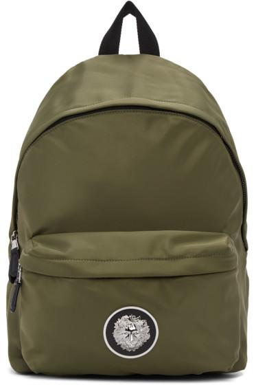 Versus - Green Nylon Logo Backpack