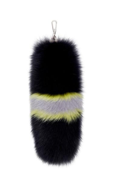 Versace - Navy Fox Fur Keychain