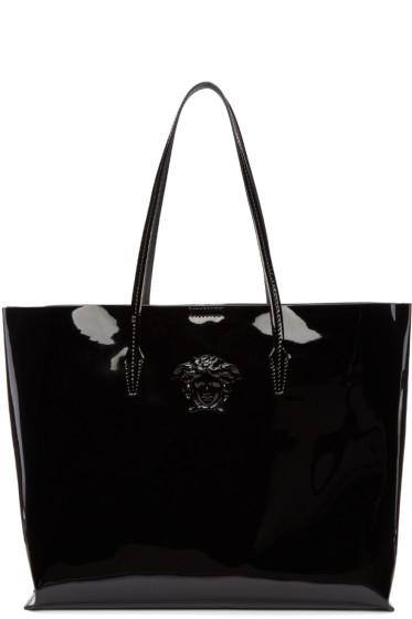Versace - Black Patent Medusa Tote