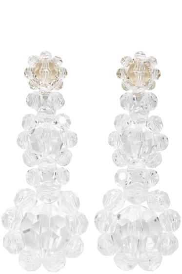 Simone Rocha - Transparent Floral Beaded Earrings