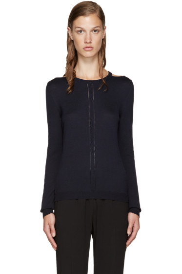 Altuzarra - Navy Cut-Out Armstrong Sweater