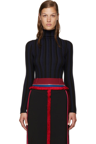 Altuzarra - Black & Navy Hattie Turtleneck