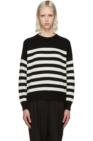 Saint Laurent - Black & White Stripe Crewneck
