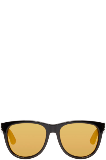 Saint Laurent - Black & Gold SL 101 Surf Sunglasses