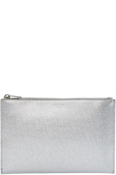 Saint Laurent - Silver Leather Pouch