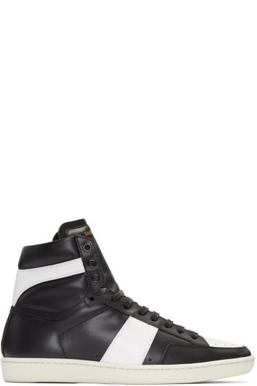 Saint Laurent - Black SL/10 Court Classic Sneakers