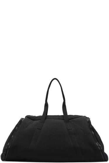 Julius - Black Nylon Twill Duffle Bag
