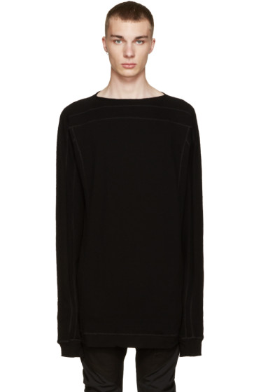 Julius - Black Cotton & Wool Pullover