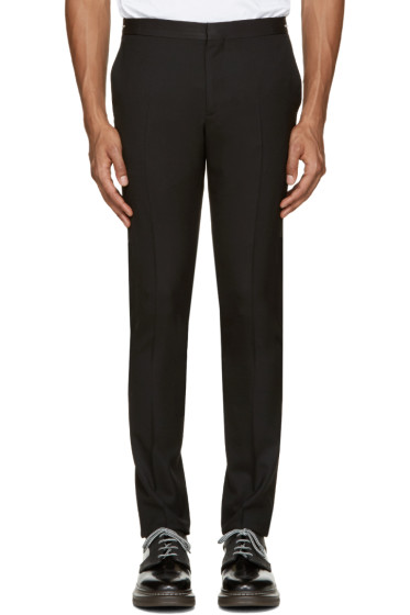 PS by Paul Smith - Black Wool Zip Accent Trousers