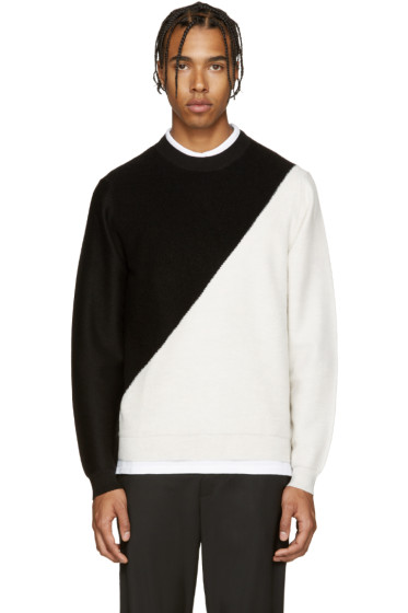 PS by Paul Smith - Black & Ivory Merino Sweater