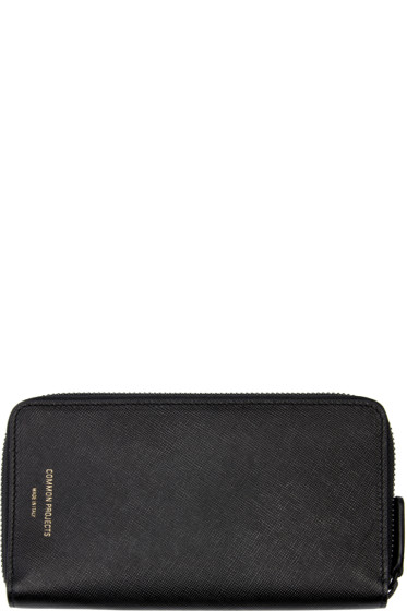 Woman by Common Projects - Black Large Zipper Wallet