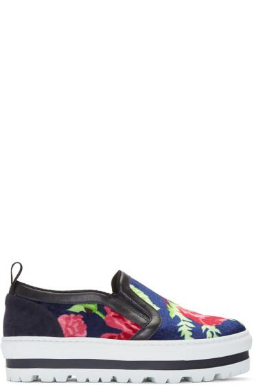 MSGM - Multicolor Floral Platform Sneakers