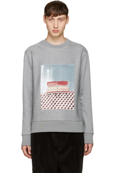 MSGM - Grey Graphic Pullover