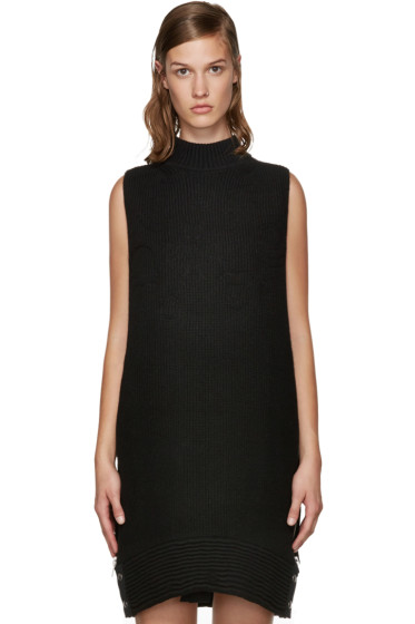 Sacai - Black Quilted Knit Dress