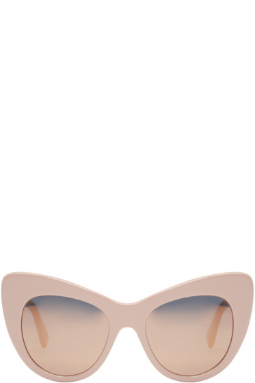 Stella McCartney - Pink Mirrored Cat-Eye Sunglasses