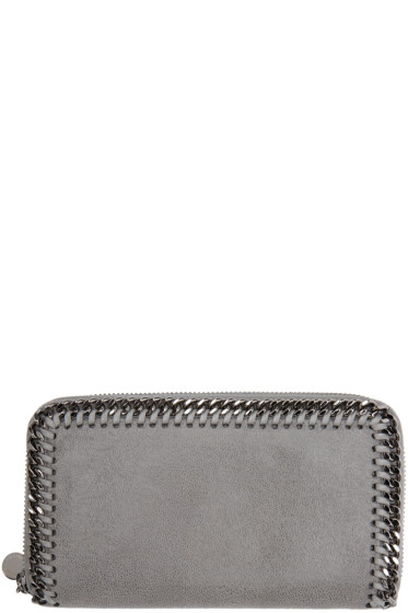Stella McCartney - Grey Falabella Shaggy Deer Zip Wallet