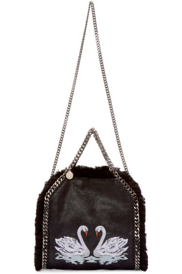 Stella McCartney - Black Mini Swan Falabella Tote