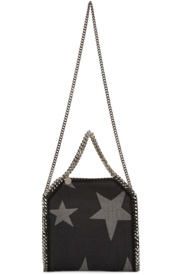 Stella McCartney - Black Denim Mini Stars Falabella Tote