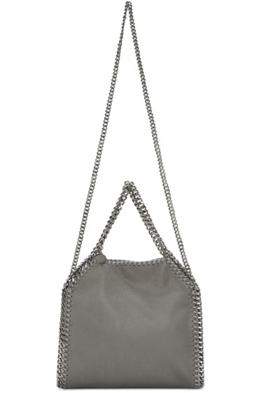 Stella McCartney - Grey Mini Falabella Shaggy Deer Tote