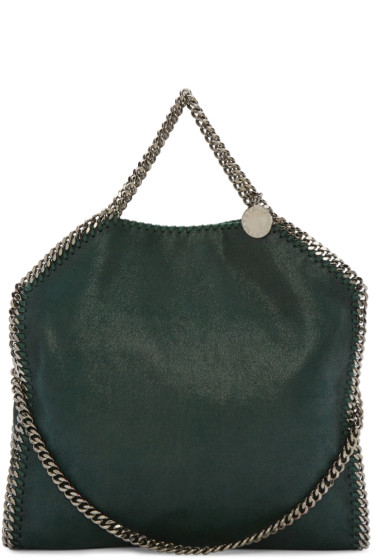 Stella McCartney - Green Small Falabella Shaggy Deer Tote