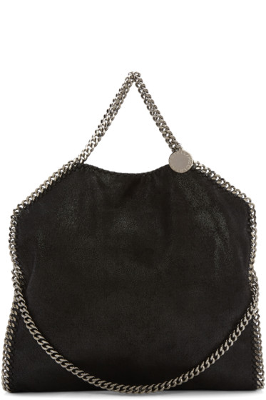 Stella McCartney - Black Small Falabella Shaggy Deer Tote