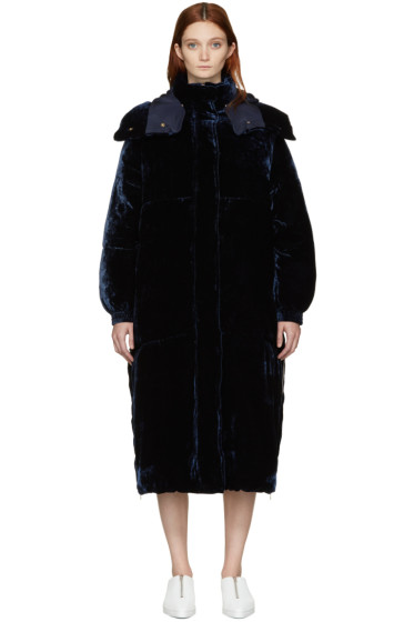Stella McCartney - Blue Velvet Marceline Coat