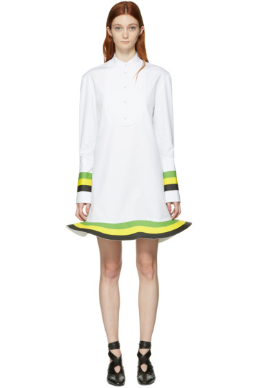 J.W.Anderson - White Orbit Hem Tuxedo Dress