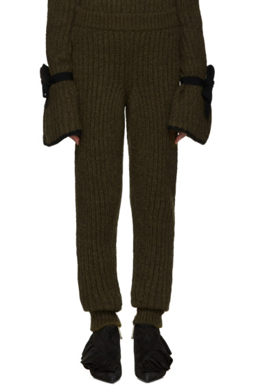 J.W.Anderson - Green Knit Lounge Pants
