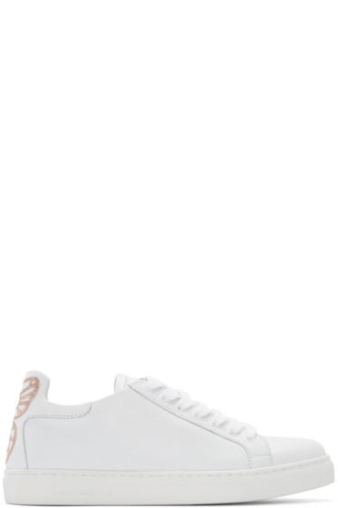 Sophia Webster - White Leather Bibi Sneakers