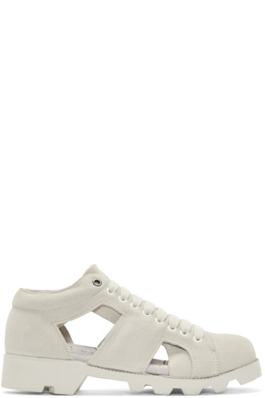 Christian Peau - Off-White Suede Gr-Sk Stair Sneakers