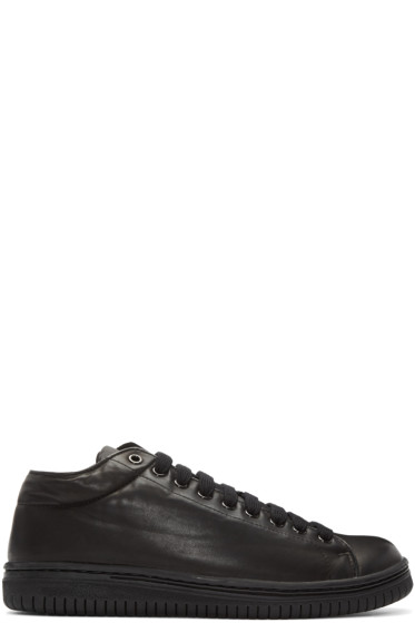 Christian Peau - Black Leather CP Low-Cut Sneakers
