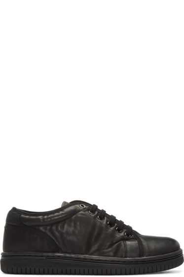 Christian Peau - Black Leather CDP Low-Cut Sneakers