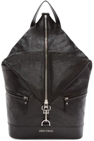 Jimmy Choo - Black Fitzroy Leather Backpack