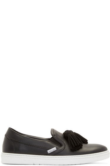 Jimmy Choo - Leather Griffin Slip-On Sneakers