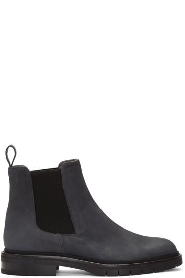Robert Clergerie - Navy Nubuck Brit Chelsea Boots