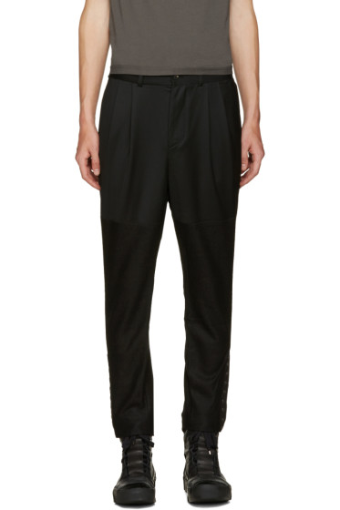 D.Gnak by Kang.D - Black Cropped Eyelet Trousers