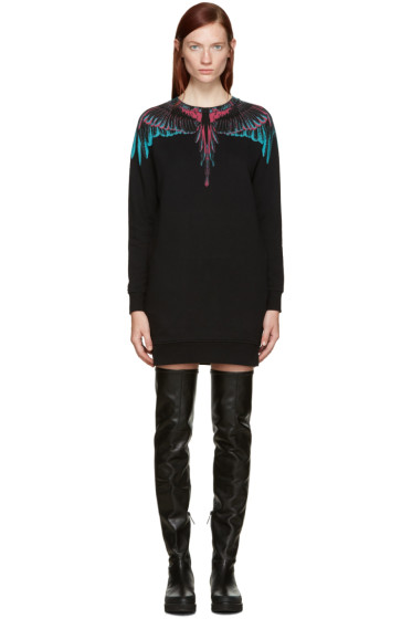 Marcelo Burlon County of Milan - Black Orely Pullover Dress