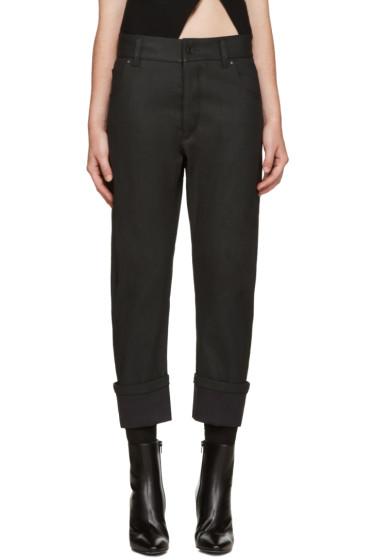 Haider Ackermann - Black Asymmetric Pocket Jeans
