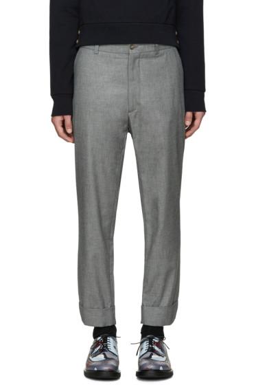 Moncler Gamme Bleu - Grey Cropped Trousers
