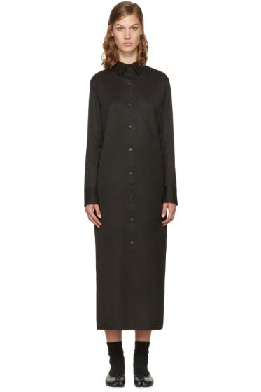 Yohji Yamamoto - Black Long Shirt Dress