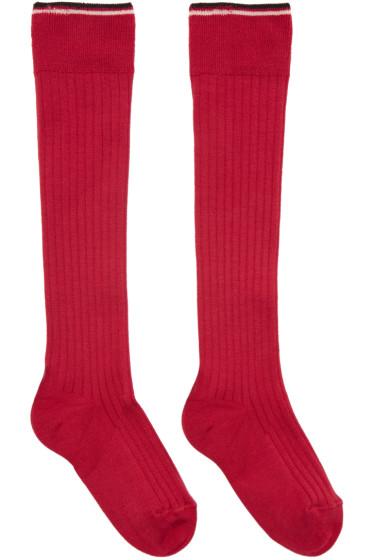 Isabel Marant - Red Silk Zina Socks