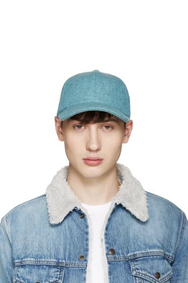 Larose - Blue Wool Baseball Cap